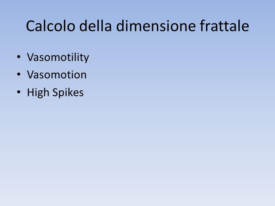Calcolo della dimensione frattale