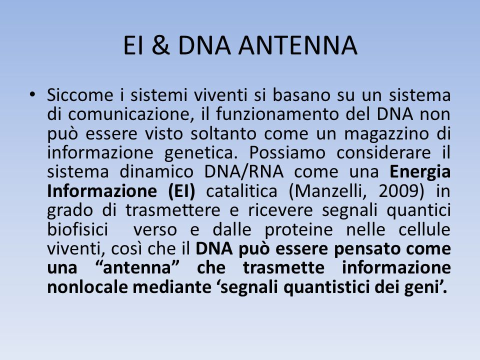 EI & DNA ANTENNA