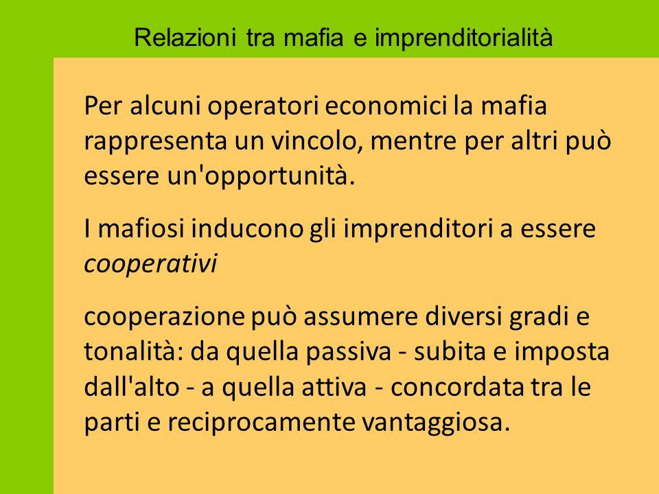 I mafiosi inducono gli imprenditori a essere cooperativi