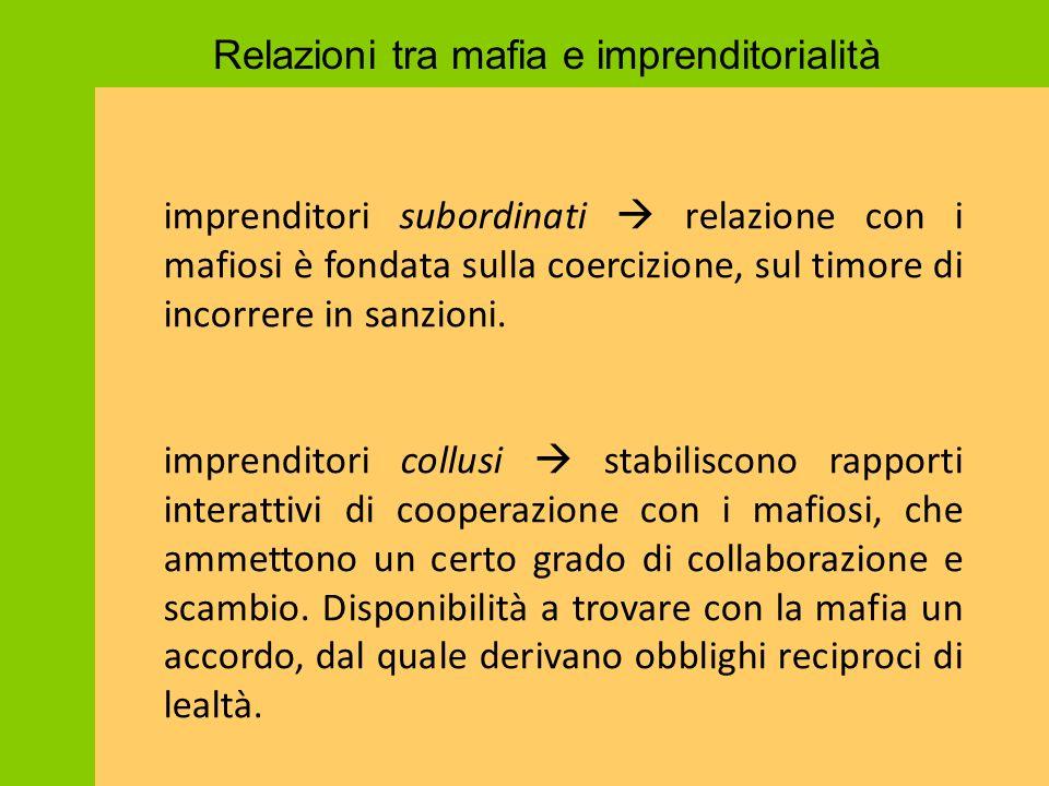 Relazioni tra mafia e imprenditorialità