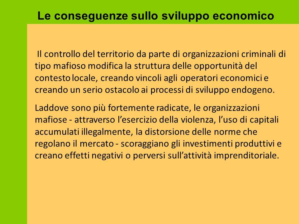 Le conseguenze sullo sviluppo economico