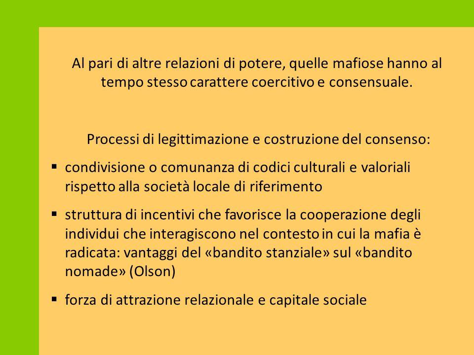 Processi di legittimazione e costruzione del consenso:
