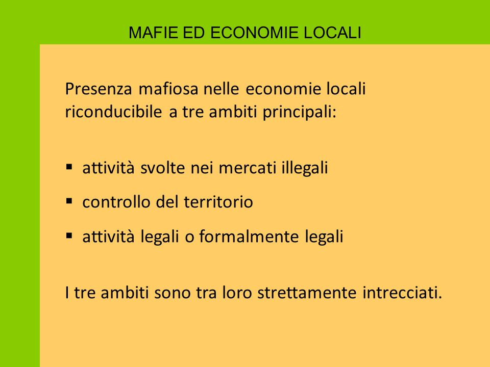 MAFIE ED ECONOMIE LOCALI