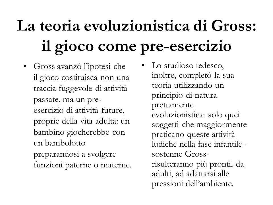 La teoria evoluzionistica di Gross: il gioco come pre-esercizio