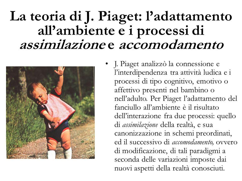 La teoria di J. Piaget: l'adattamento all'ambiente e i processi di assimilazione e accomodamento