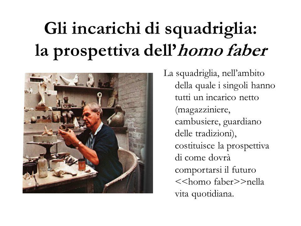 Gli incarichi di squadriglia: la prospettiva dell'homo faber