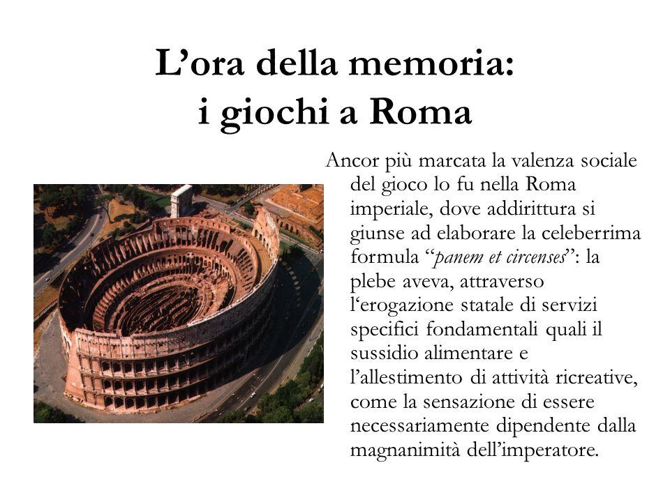 L'ora della memoria: i giochi a Roma