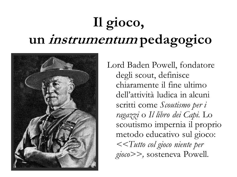 Il gioco, un instrumentum pedagogico