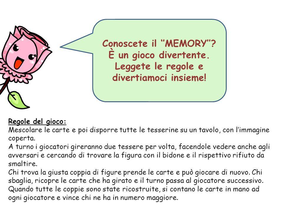 Conoscete il ''MEMORY''