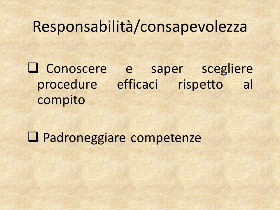 Responsabilità/consapevolezza