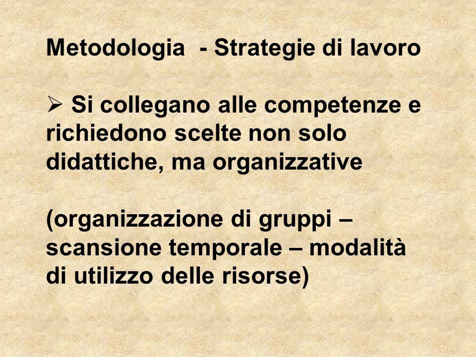 Metodologia - Strategie di lavoro