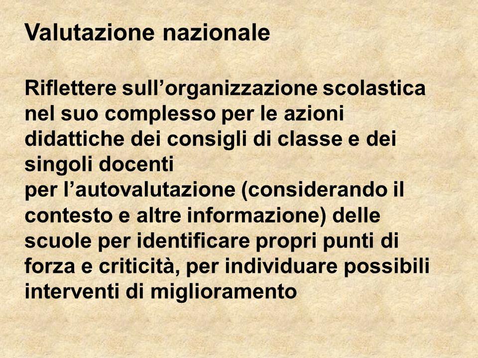 Valutazione nazionale
