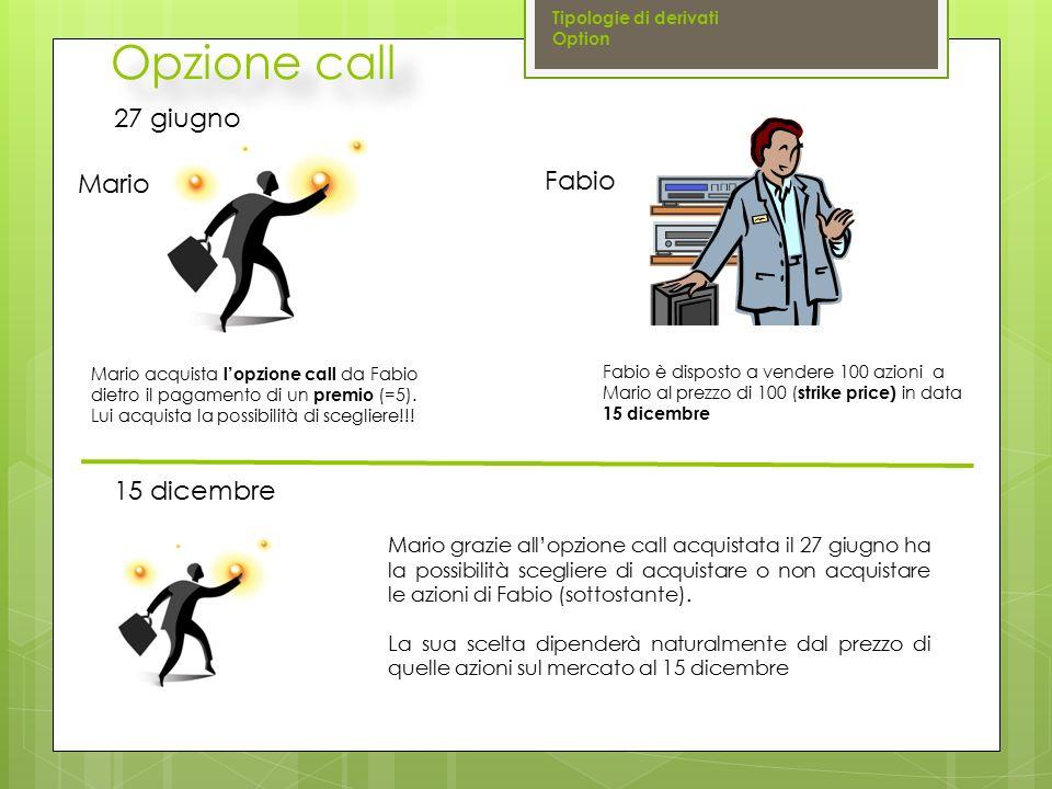 Opzione call 27 giugno Fabio Mario 15 dicembre