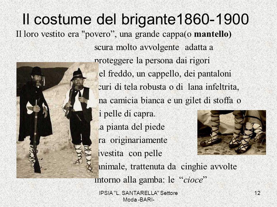 Il costume del brigante1860-1900