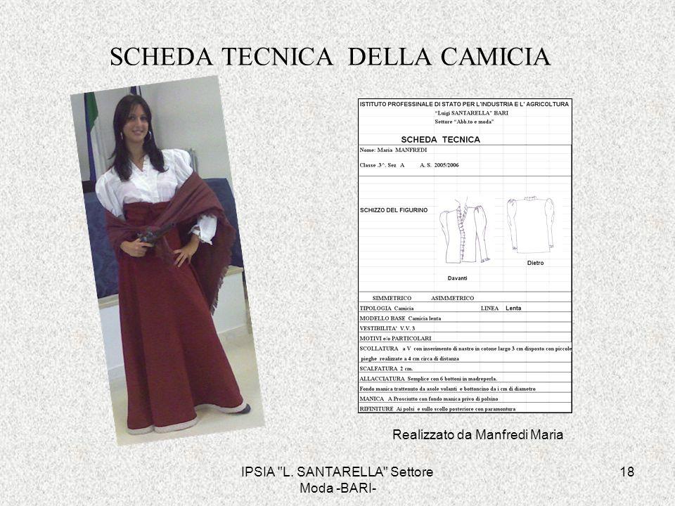 SCHEDA TECNICA DELLA CAMICIA