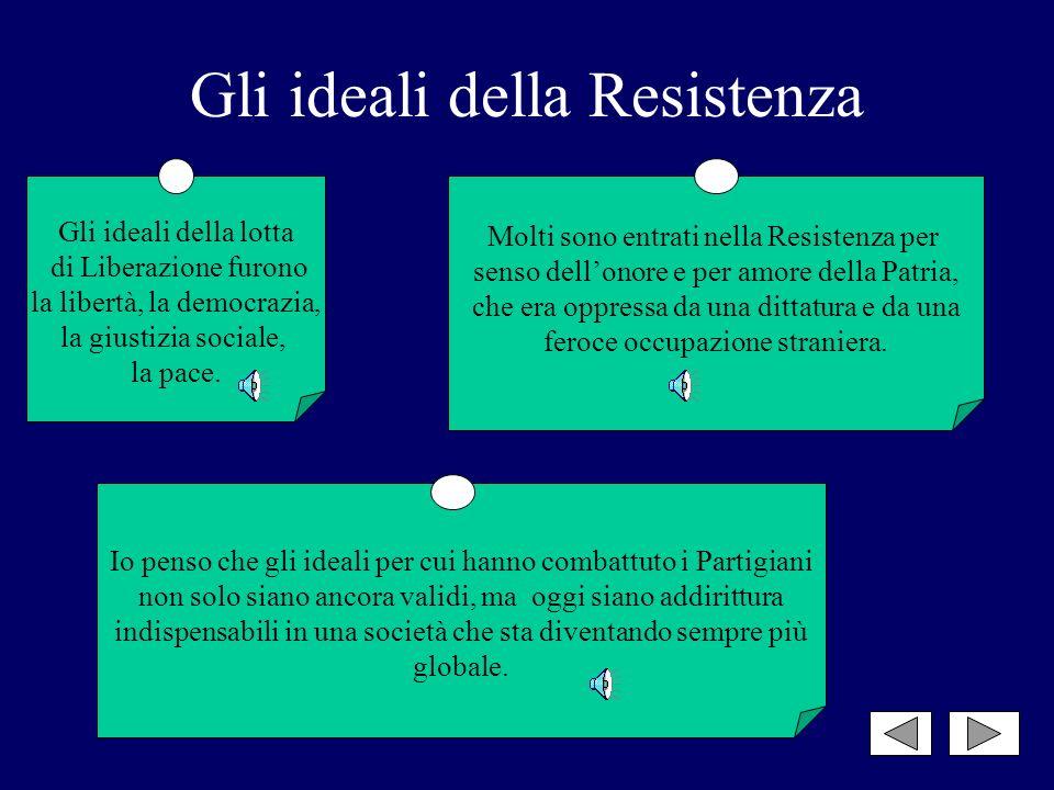 Gli ideali della Resistenza