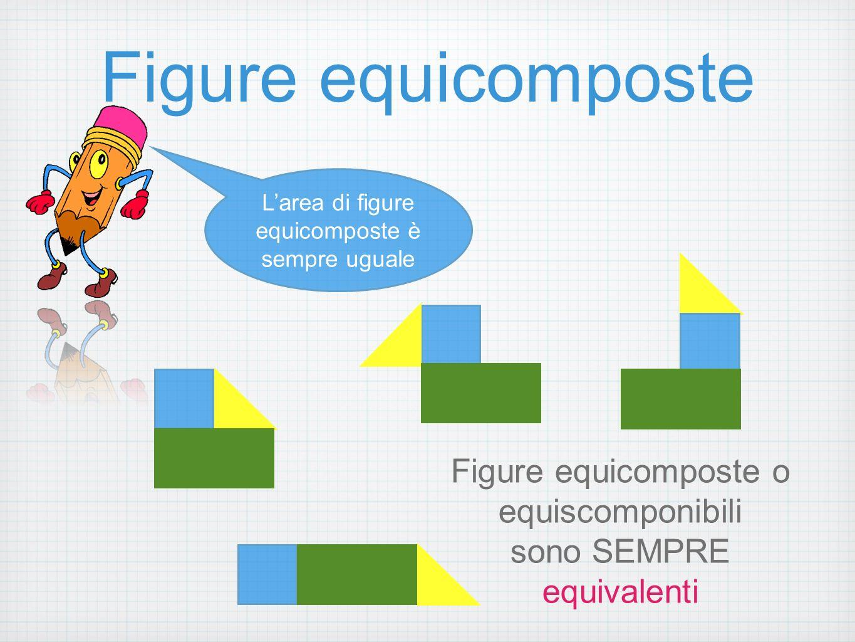 Figure equicomposte Figure equicomposte o equiscomponibili sono SEMPRE