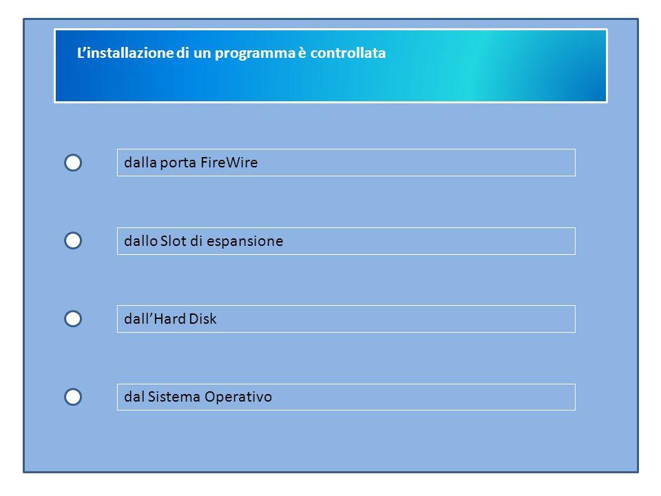 L'installazione di un programma è controllata