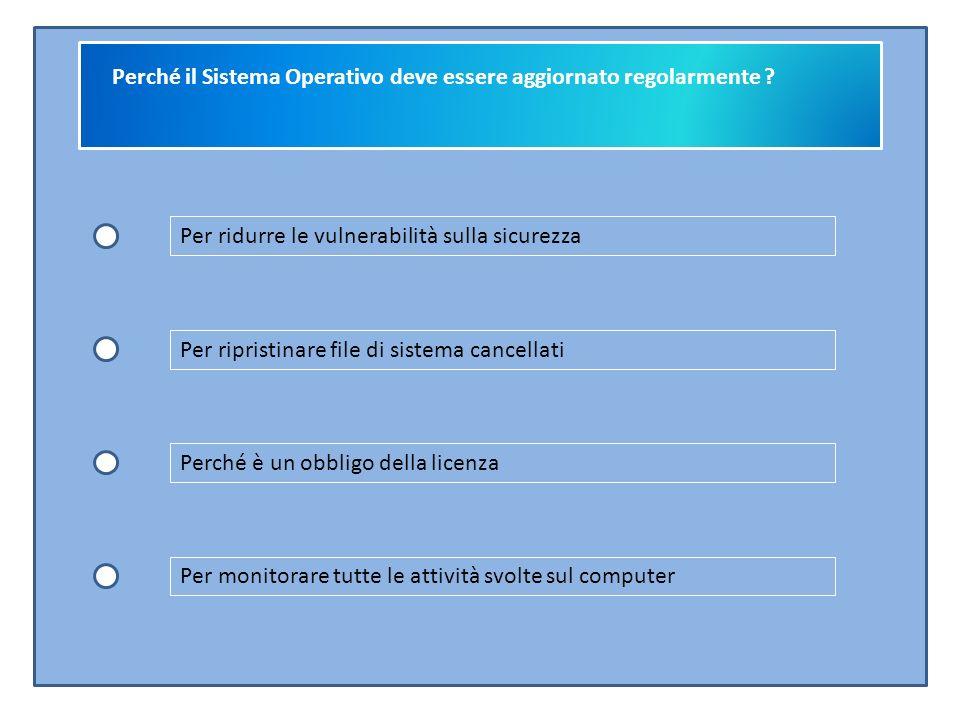 Perché il Sistema Operativo deve essere aggiornato regolarmente