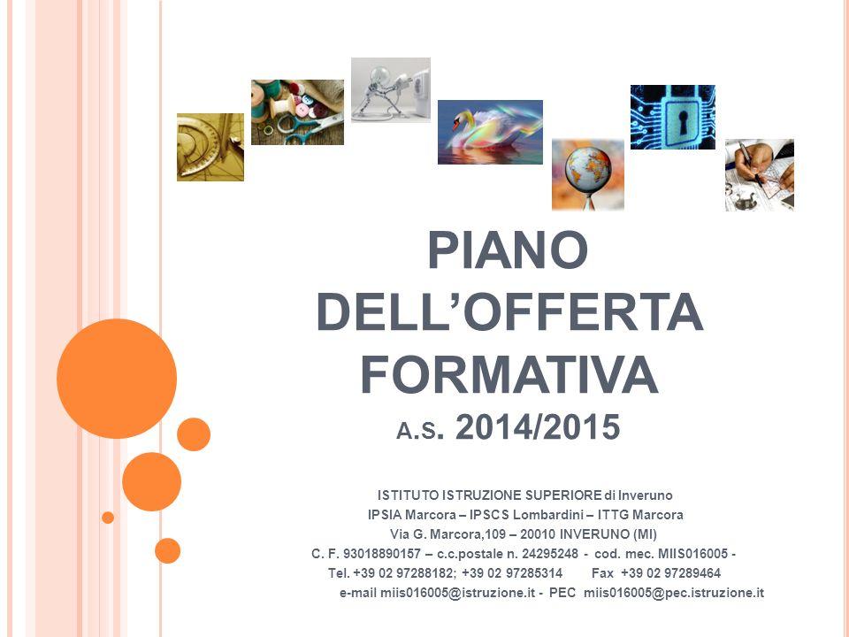 PIANO DELL'OFFERTA FORMATIVA a.s. 2014/2015