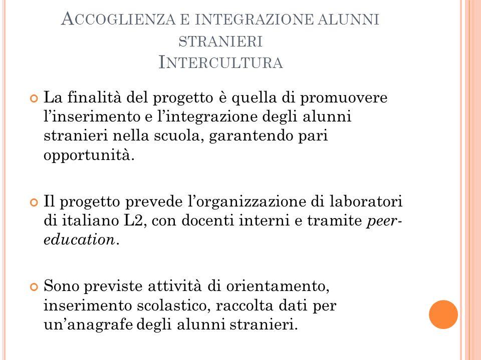 Accoglienza e integrazione alunni stranieri Intercultura