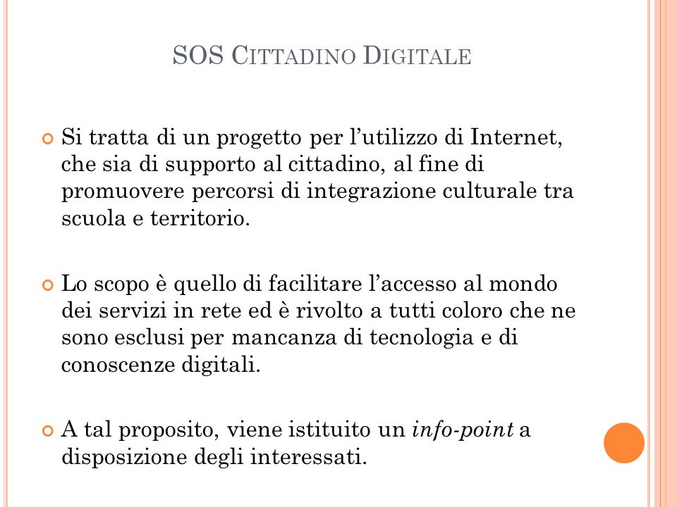 SOS Cittadino Digitale