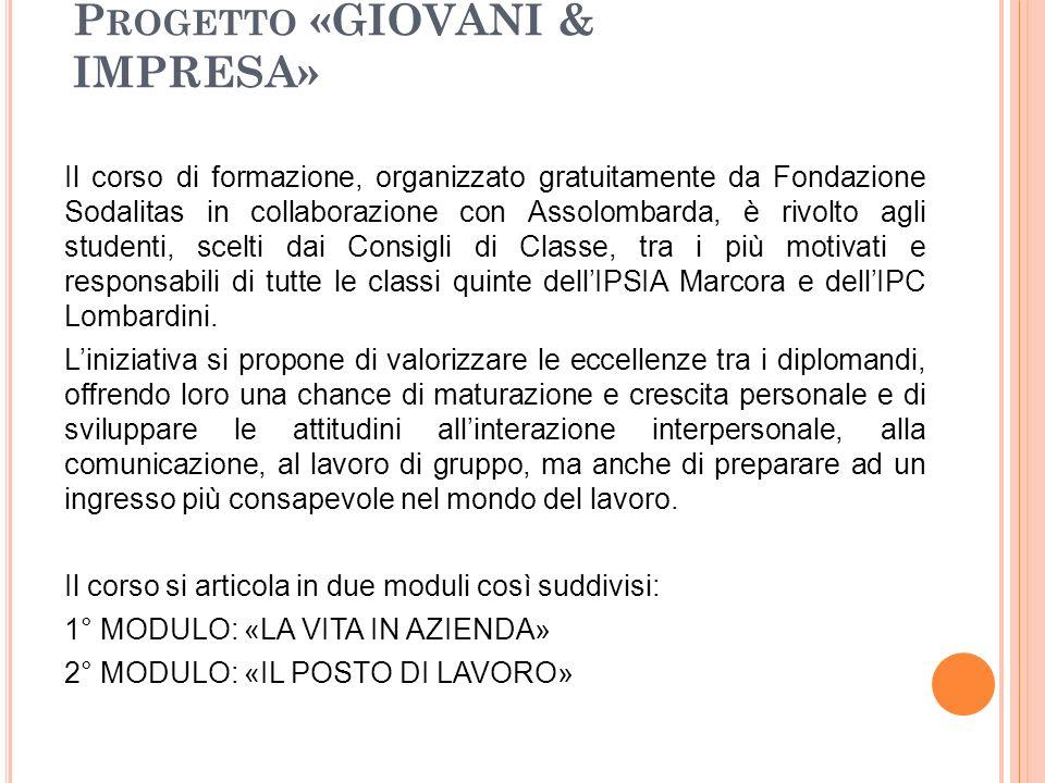 Progetto «GIOVANI & IMPRESA»