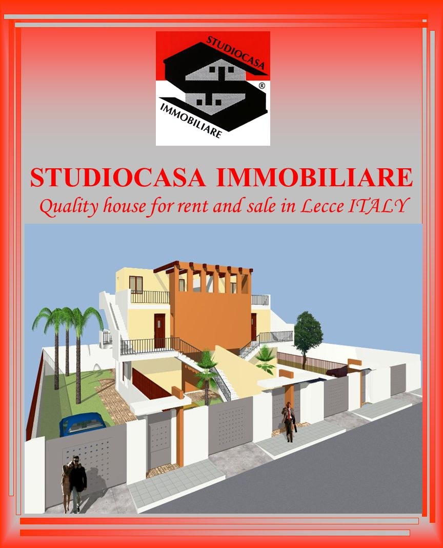 STUDIOCASA IMMOBILIARE Quality house for rent and sale in Lecce ITALY