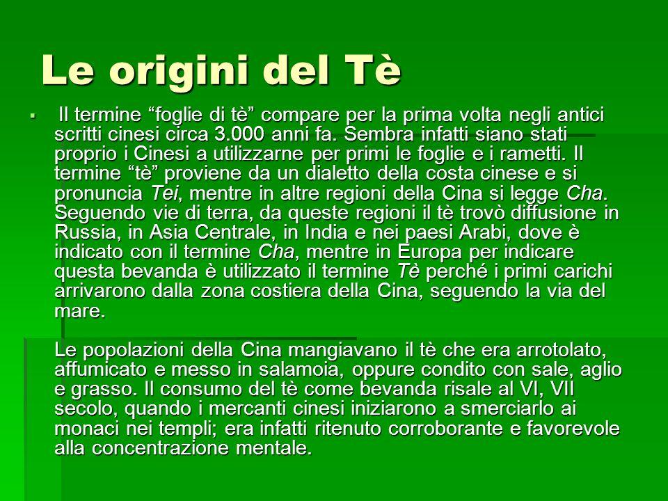 Le origini del Tè