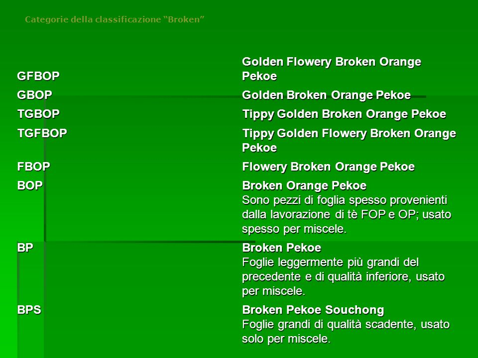 Golden Flowery Broken Orange Pekoe