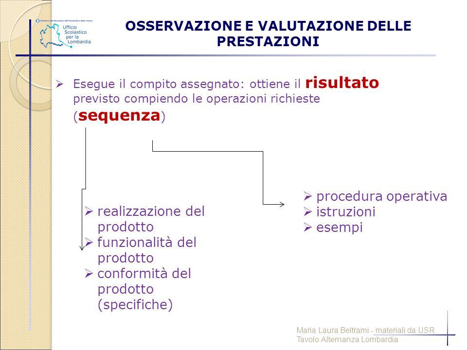 OSSERVAZIONE E VALUTAZIONE DELLE