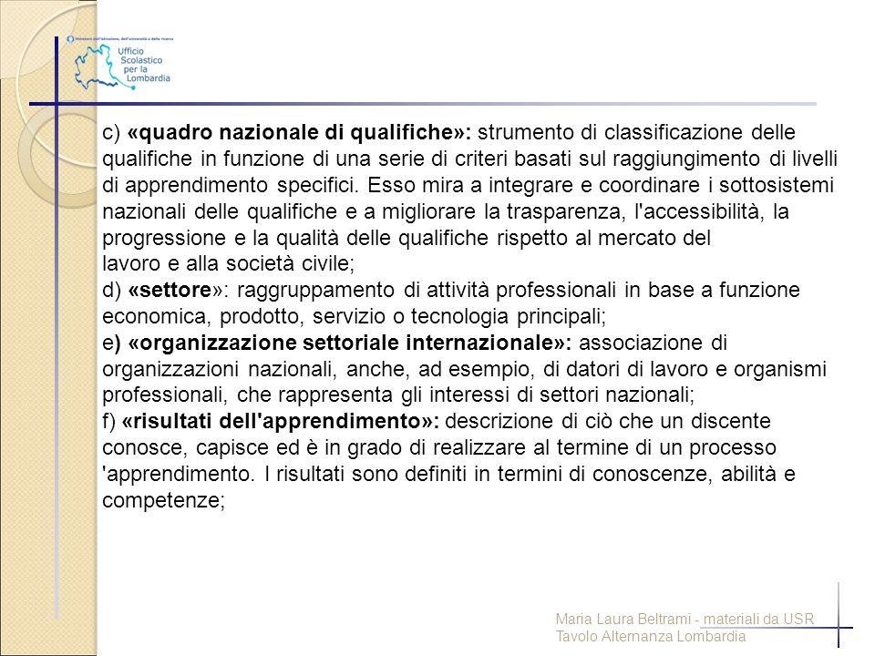 lavoro e alla società civile;