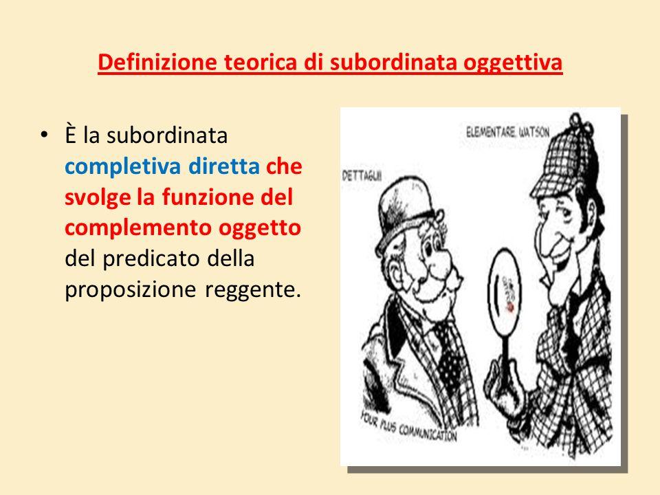 Definizione teorica di subordinata oggettiva