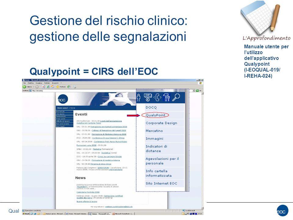 Gestione del rischio clinico: gestione delle segnalazioni