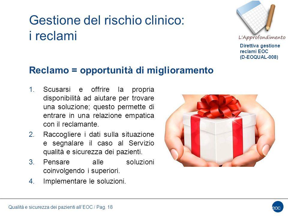 Gestione del rischio clinico: i reclami