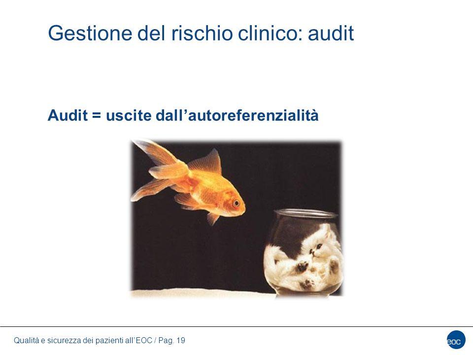 Gestione del rischio clinico: audit