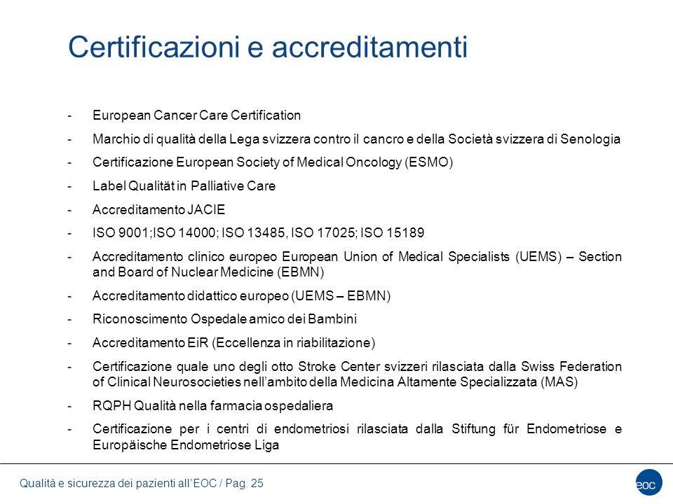 Certificazioni e accreditamenti