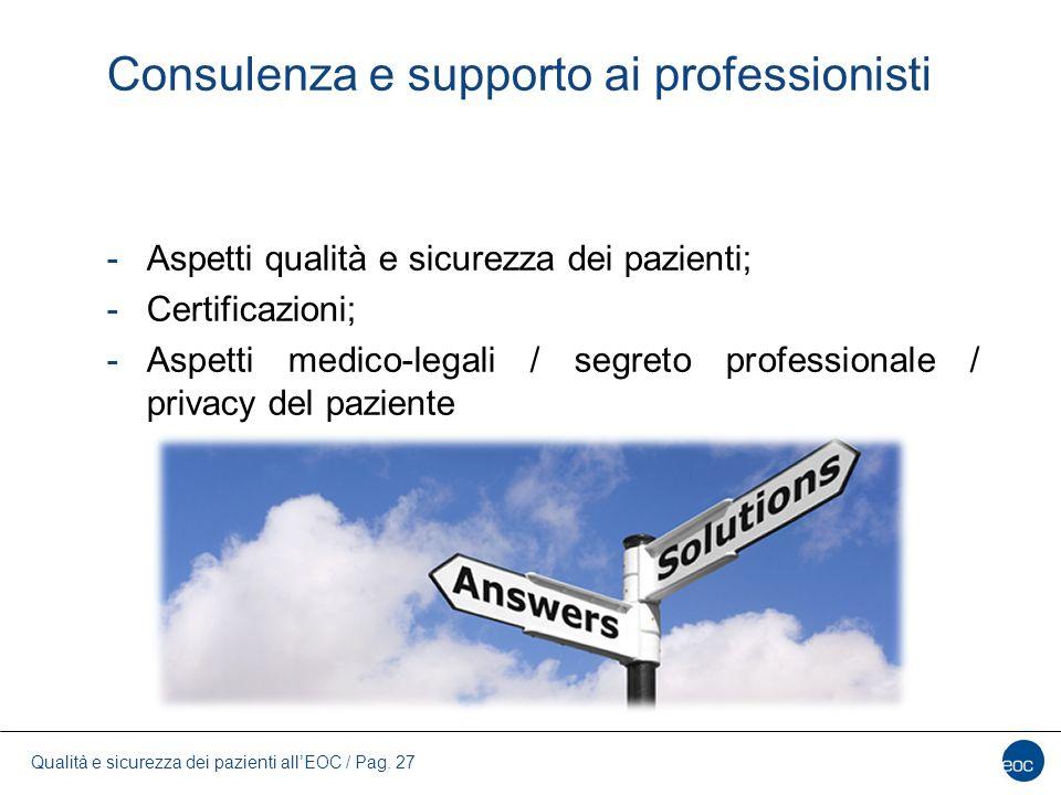 Consulenza e supporto ai professionisti