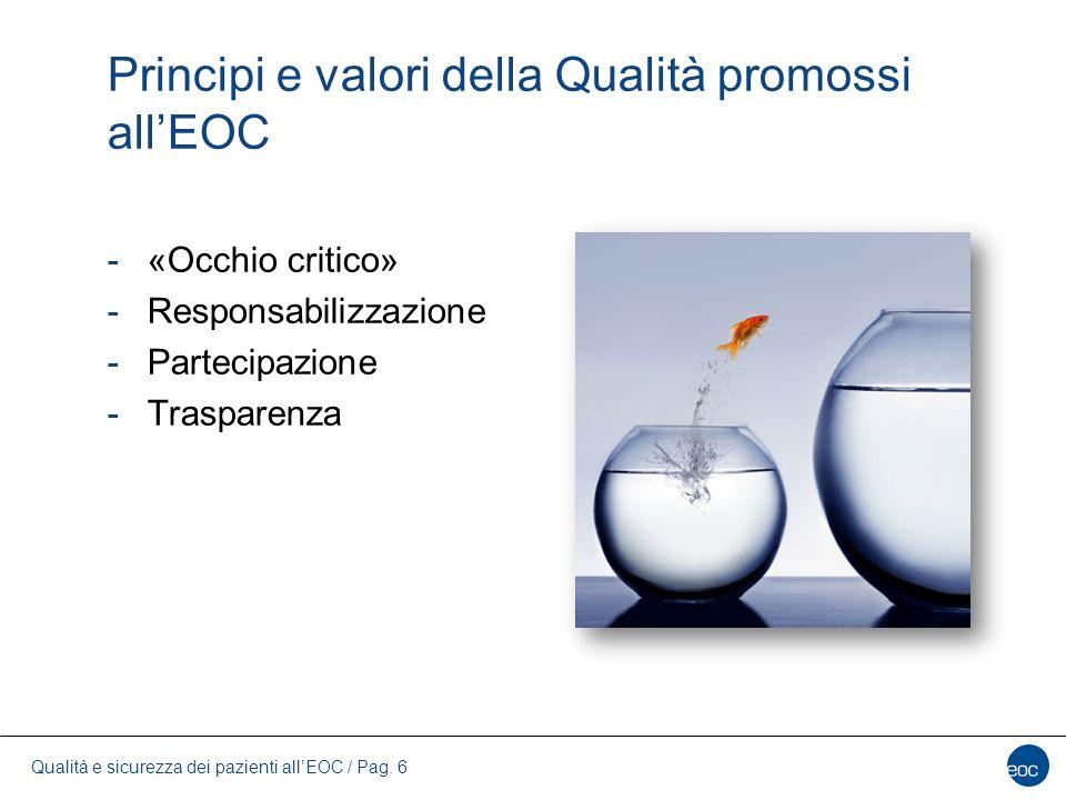 Principi e valori della Qualità promossi all'EOC