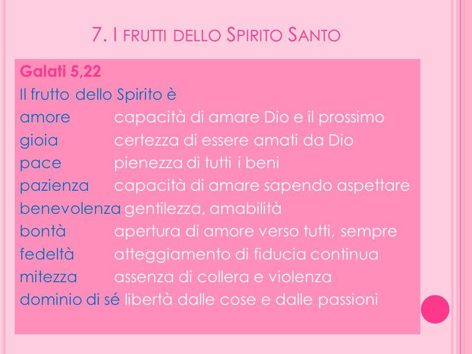 7. I frutti dello Spirito Santo