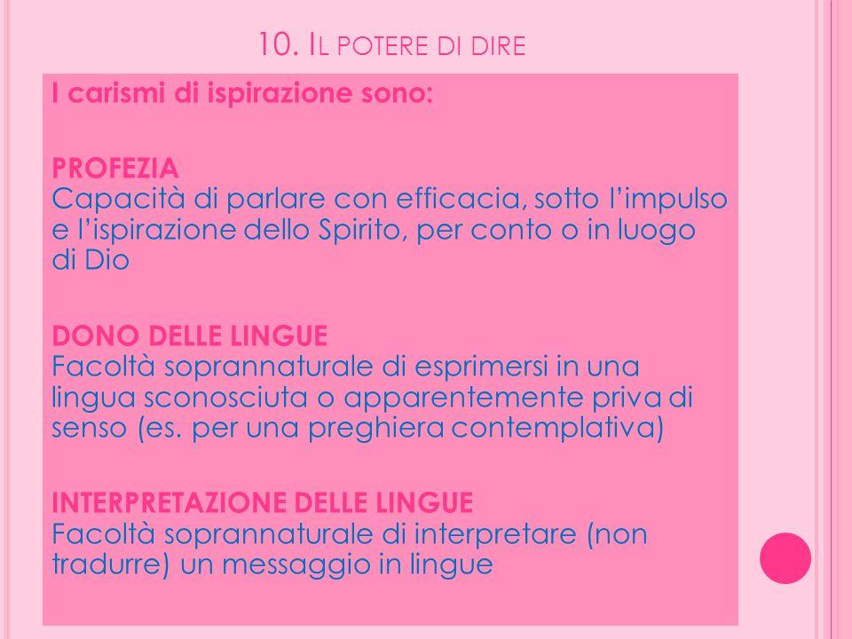 10. Il potere di dire