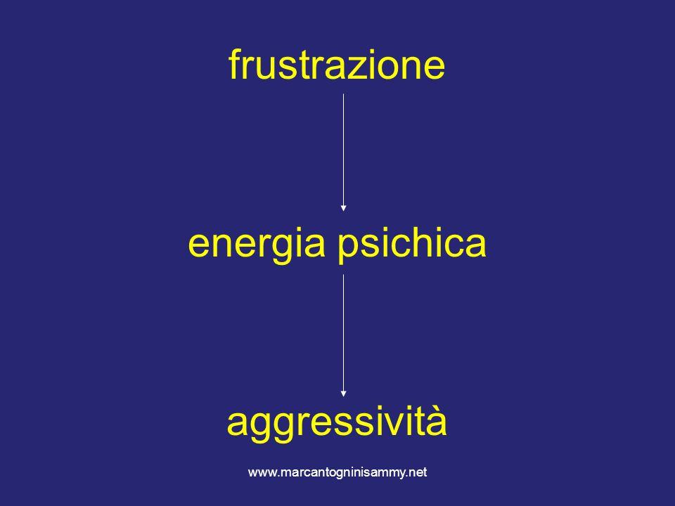 frustrazione energia psichica aggressività www.marcantogninisammy.net