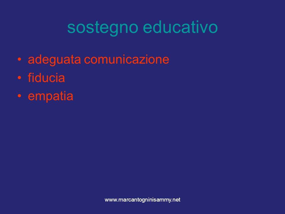 sostegno educativo adeguata comunicazione fiducia empatia