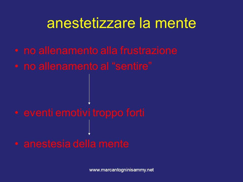 anestetizzare la mente