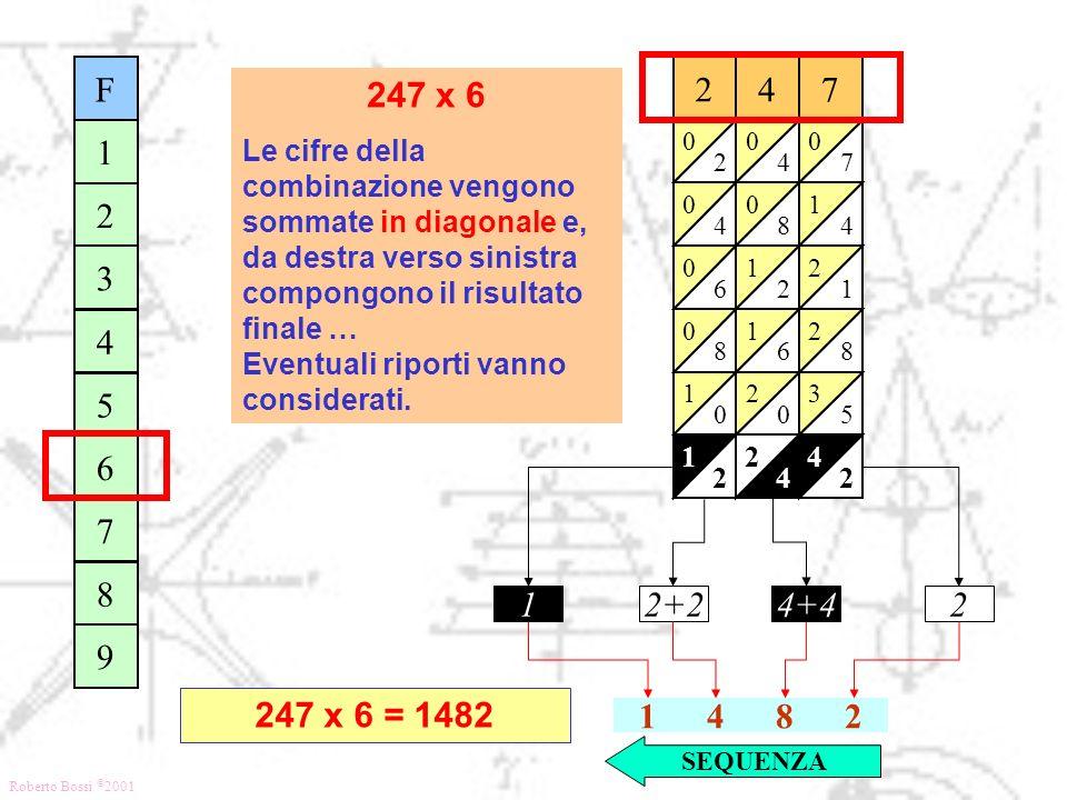 F 1. 2. 3. 4. 5. 6. 7. 8. 9. 4. 8. 2. 1. 6. 7. 5. 3. 247 x 6.