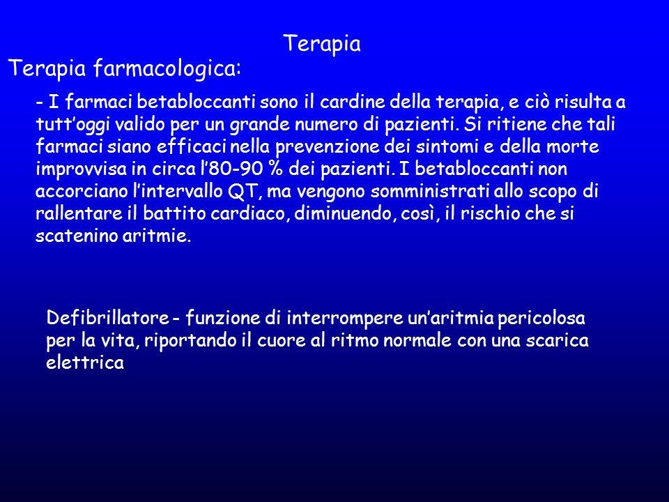 Terapia farmacologica: