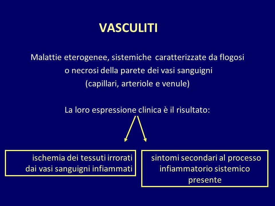 sintomi secondari al processo infiammatorio sistemico presente