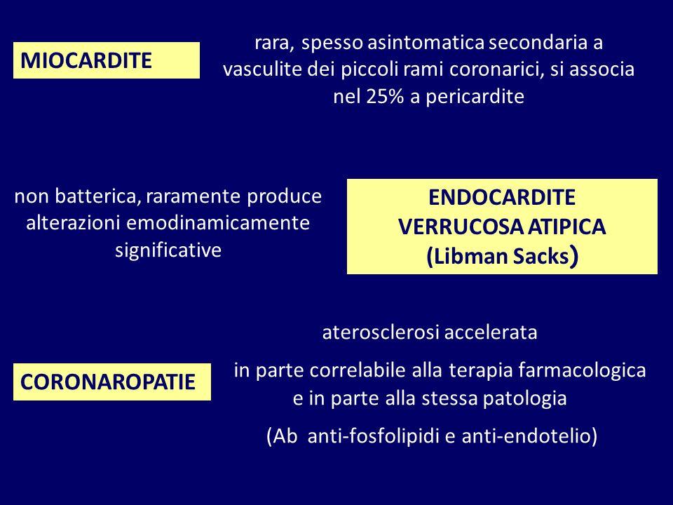 MIOCARDITE ENDOCARDITE VERRUCOSA ATIPICA (Libman Sacks) CORONAROPATIE
