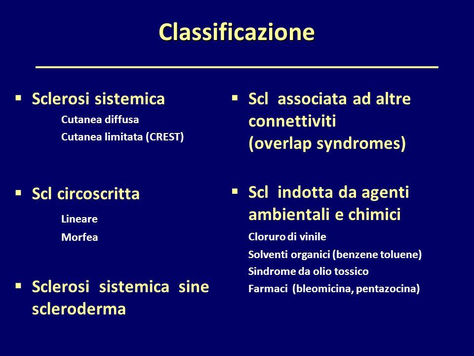 Classificazione Sclerosi sistemica Scl circoscritta