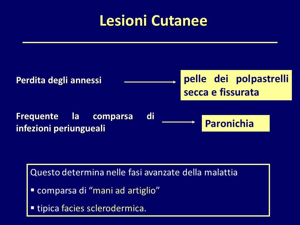 Lesioni Cutanee pelle dei polpastrelli secca e fissurata Paronichia